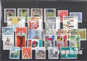 Suisse-1993-oblitere-complet-volume-dans-propres-conservation