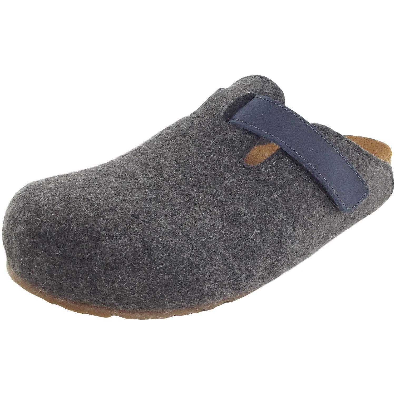 Haflinger Bio Kurt Unisex Pantoffeln anthrazit