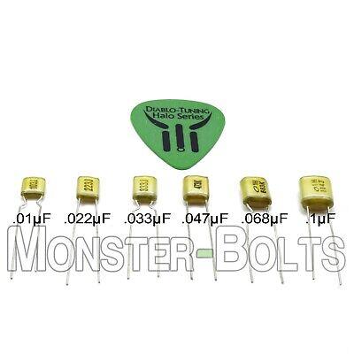 2X Capacitors 1 Pair .047uf Orange Drop 225P Guitar Tone Caps