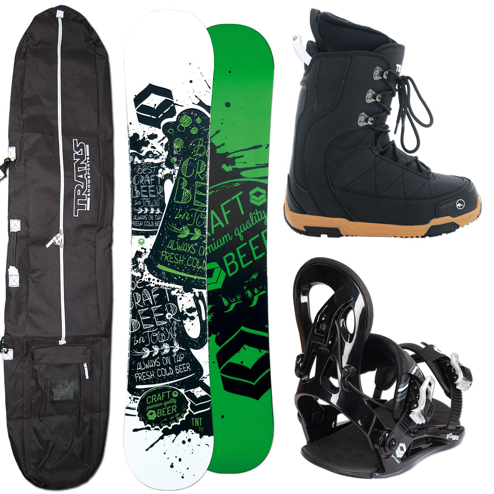 Men's Snowboard Ftwo Tnt Green 146 cm + Fastec Binding SIZE M + Boots+ Bag