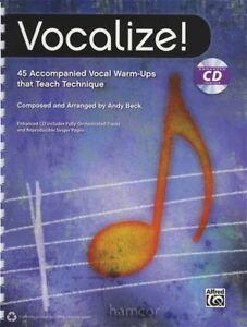 Vocalisent 45 Accompagné Vocal Warm-ups Qui Enseignent Technique Apprendre à Chanter-afficher Le Titre D'origine Adopter Une Technologie De Pointe