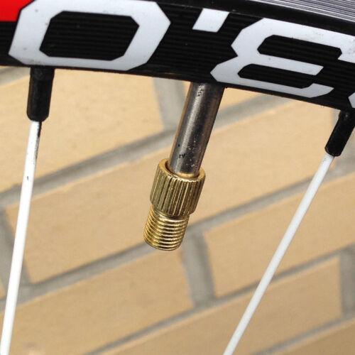 New Bike Bicycle Valve Adapter Presta to Schrader Valve Converter Pump Connector