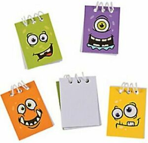 Pack-of-12-Monster-Face-Mini-Spiral-Notebooks-Halloween-Stocking-Fillers