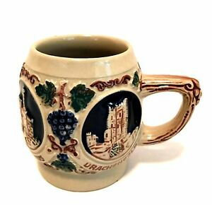 Gerz-Mug-Castles-on-the-Rhine-West-Germany-Vintage-Stoneware-Cup
