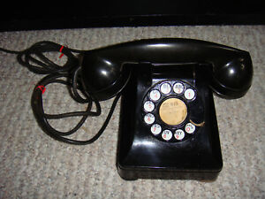 Antique-1940-039-s-Western-Electric-Rotary-Dial-Telephone-Excellent-Condition