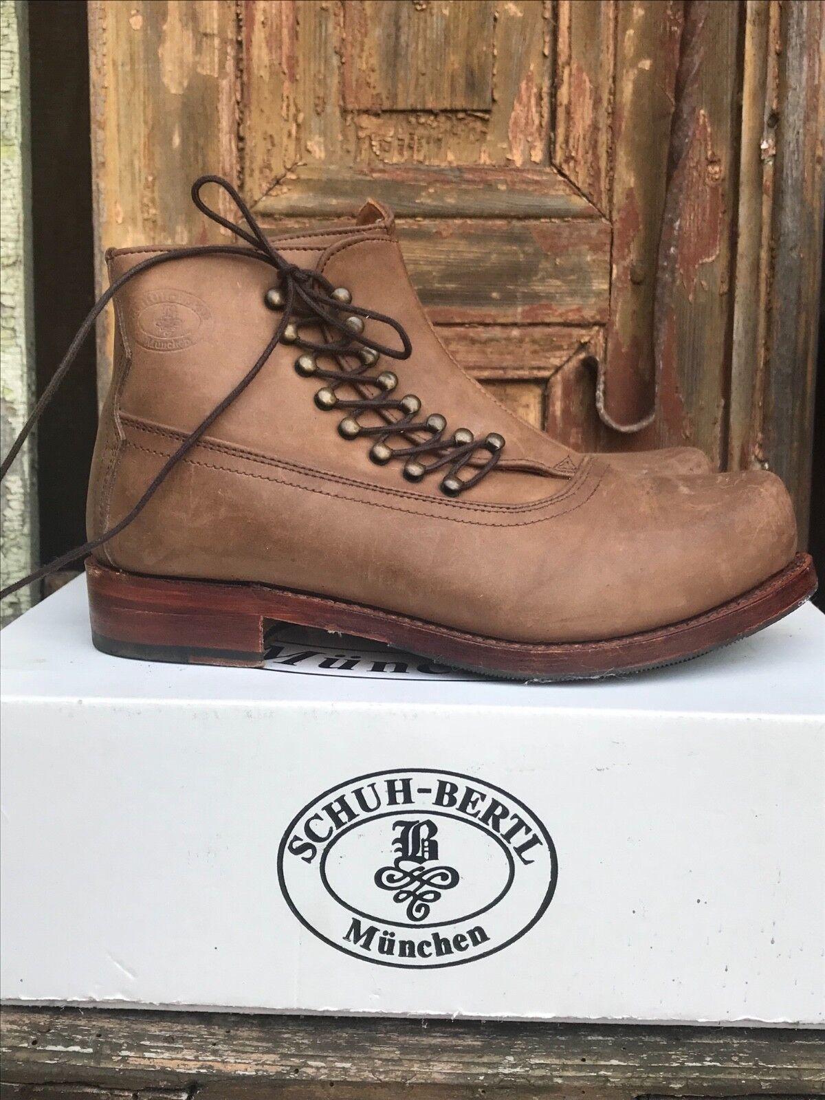 Designer Schuhe von SCHUH-BERTL MÜNCHEN Leder braun Gr.39