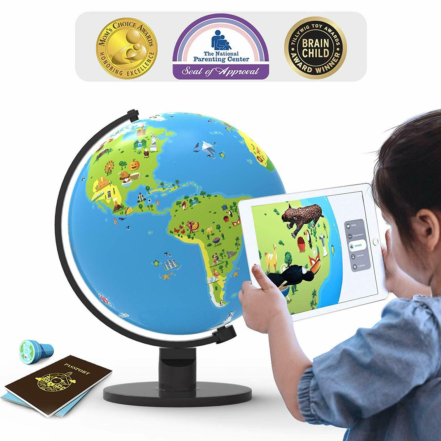 Augmented Reality Interactive Globe for Kids, STEM- (App Based) Educational Toy