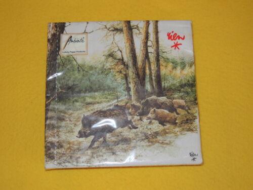 20 Serviettes les sangliers Forêt 1 boîte neuf dans sa boîte Wild Boars Wood Courir ambiance