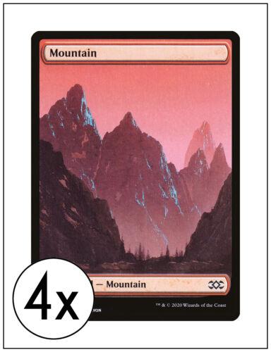 Double Masters 2XM Magic MTG John Avon 4x Full Art Mountain 379