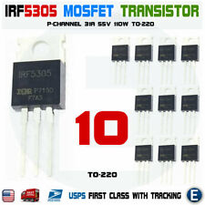 10pcs Irf5305 Irf5305pbf Mosfet Transistor P Channel 31a 55v 110w To 220