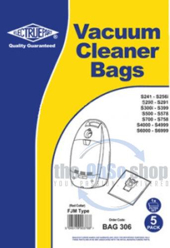 S248i S247i S2461i S249 5x MIELE Vacuum Cleaner Cloth Bags FJM Red Collar