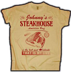 BBQ Grillmeister T-Shirt T-Bone Steakhouse Fun Shirt Old School BBQ Smoker