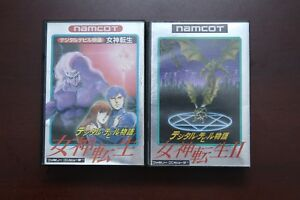 Famicom-Megami-Tensei-1-2-I-II-boxed-Japan-FC-game-US-Seller