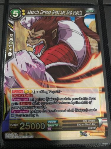 Absolute Defence Great Ape King Vegeta BT3-092 R Yellow Dragonball Super