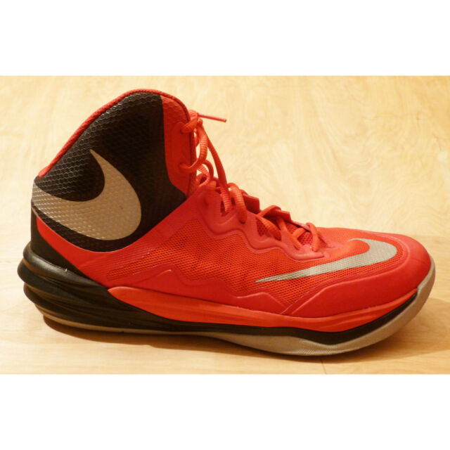 new style 700ae 17f98 NIKE Prime Hype DF II Sneakers Basketball Shoes Red Black Silver Size 12