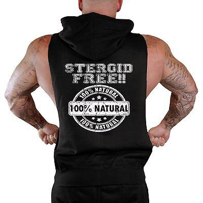 Mens Steroid Free Sleeveless Vest Hoodie