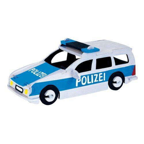 PEBARO Holzbausatz Polizeiauto