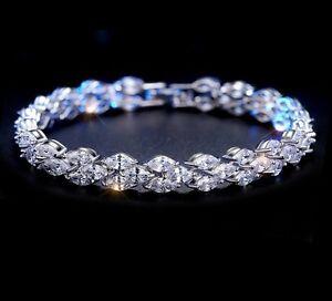 Image Is Loading 5 Ct Round Man Made Diamond Tennis Bracelet