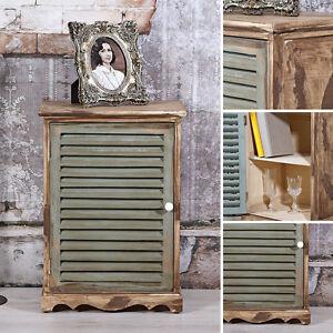 ... Shabby Wandschrank Gruen Holz Kommode Anrichte Sideboard Badezimmer