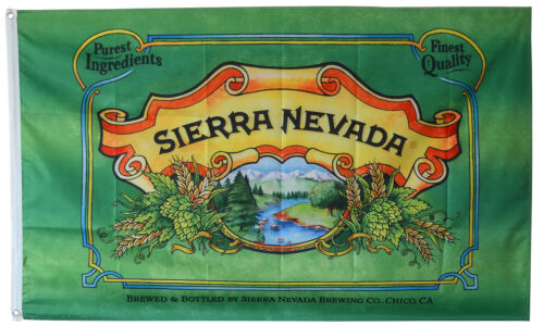 Sierra Nevada Beer Flag Banner 3x5 Feet man cave Decor
