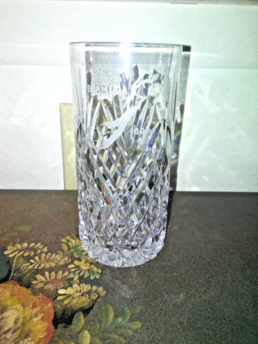 Vintage    Bermuda Line Etched Logo Water Cup or Drinking Glass