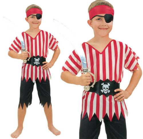 Enfants pirate fancy dress costume childs costume garçons filles taille 3-10 ans