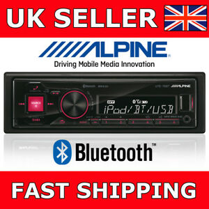 ALPINE-UTE-72BT-Car-Stereo-Radio-Player-Mechless-Bluetooth-USB-for-iPod-iPhone