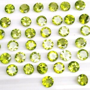 Wholesale-Lot-of-4mm-Round-Facet-Cut-Natural-Peridot-Loose-Calibrated-Gemstone