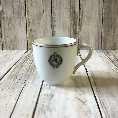 Rare Royal Worcester Porcelain White Monogrammed Coffee Espresso Cup Vgc Ebay