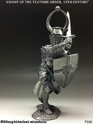 Knight Teutonic order Tin toy soldier 54 mm, figurine, metal sculpture