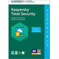 Kaspersky Total Security 2017 - 3 Devices / 1 Year. Key Card