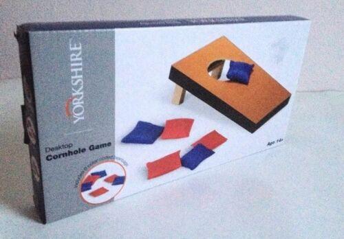 New Yorkshire Desktop Cornhole Game Mini Bean Bag Toss Portable