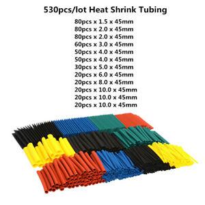 328PCS-2-1-Polyolefin-Heat-Shrink-Tubing-Tube-Sleeve-Wrap-Assortment-8-Size-HOT