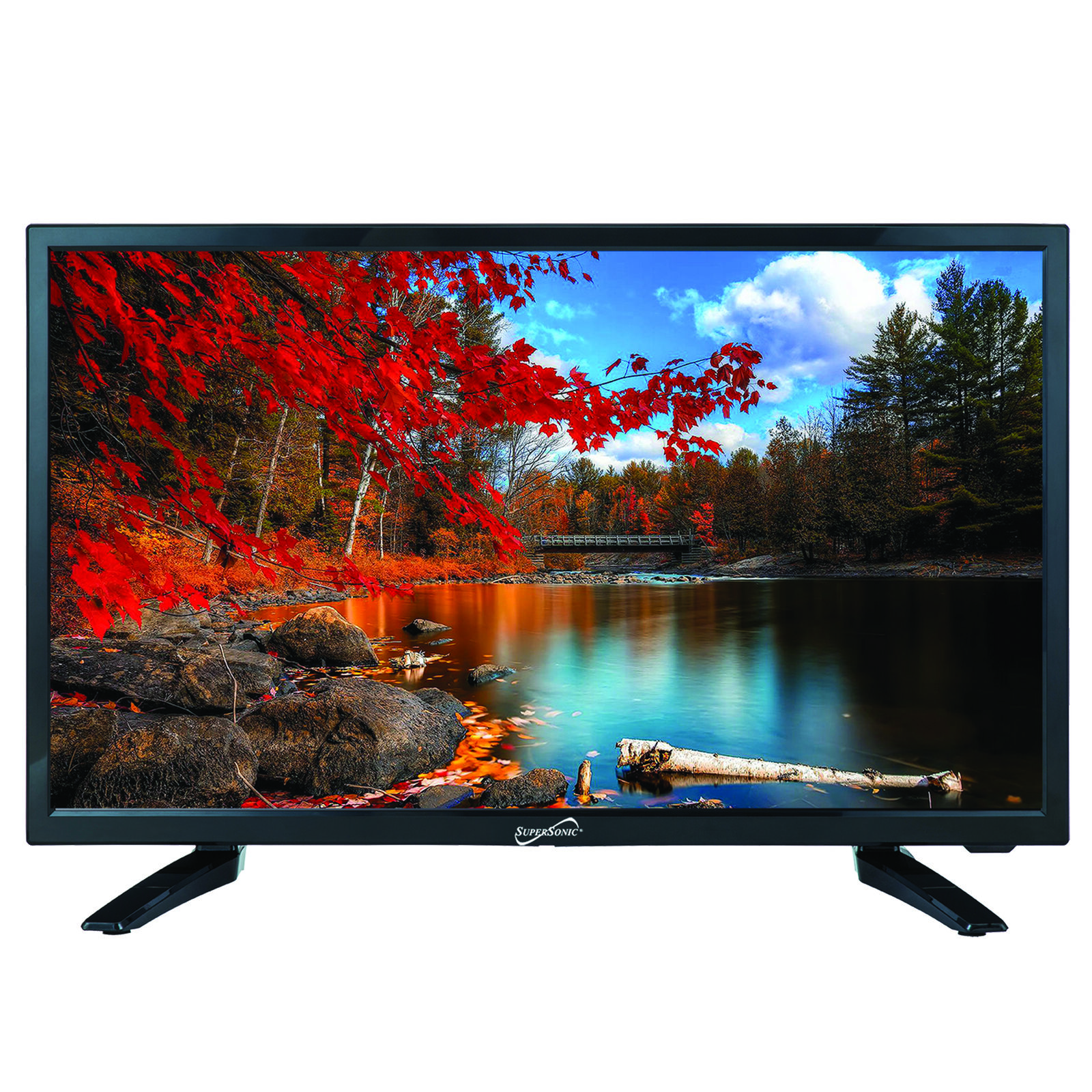 Supersonic 13.3 Inch 1080p LED Widescreen HDTV,HDMI,AC//DC CompatibleSC-1311
