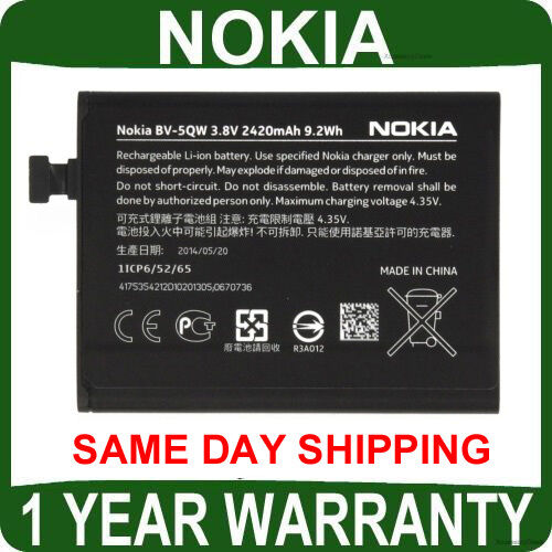 New Genuine Nokia BATTERY Mobile LUMIA 930 original cell phone bv5qw smartphone
