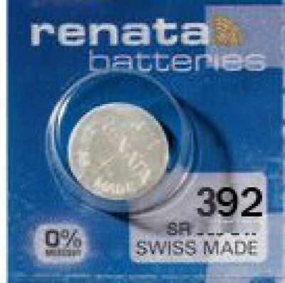 15 x Renata 392 Uhrenbatterien 1,55 V SR41W RW47 SR41 Knopfzelle 45mAh
