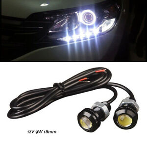 Automobiles & Motorcycles 10x 9w 12v Car Led 18mm Eagle Eye Daytime Running Drl Tail Light Backup Lamp