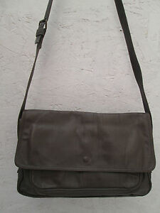 beg t Enny Sac Authentique À Cuir Enjoy Bag Vintage Main w7pqR0