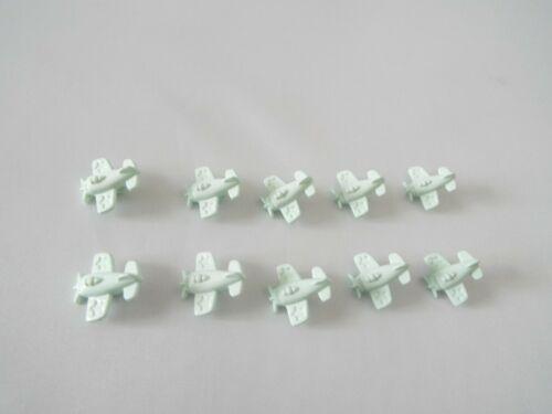 10 X Carino Verde Menta Aereo Aeroplano Baby Novità BOTTONI IN PLASTICA GAMBO 15mm H86