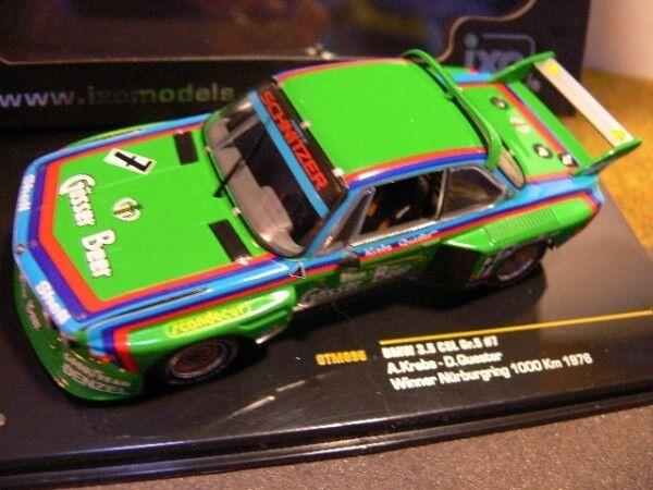 1 43 IXO BMW 3.5 CLS Winner Nürburgring 1000 HM 1976  7 gtm096