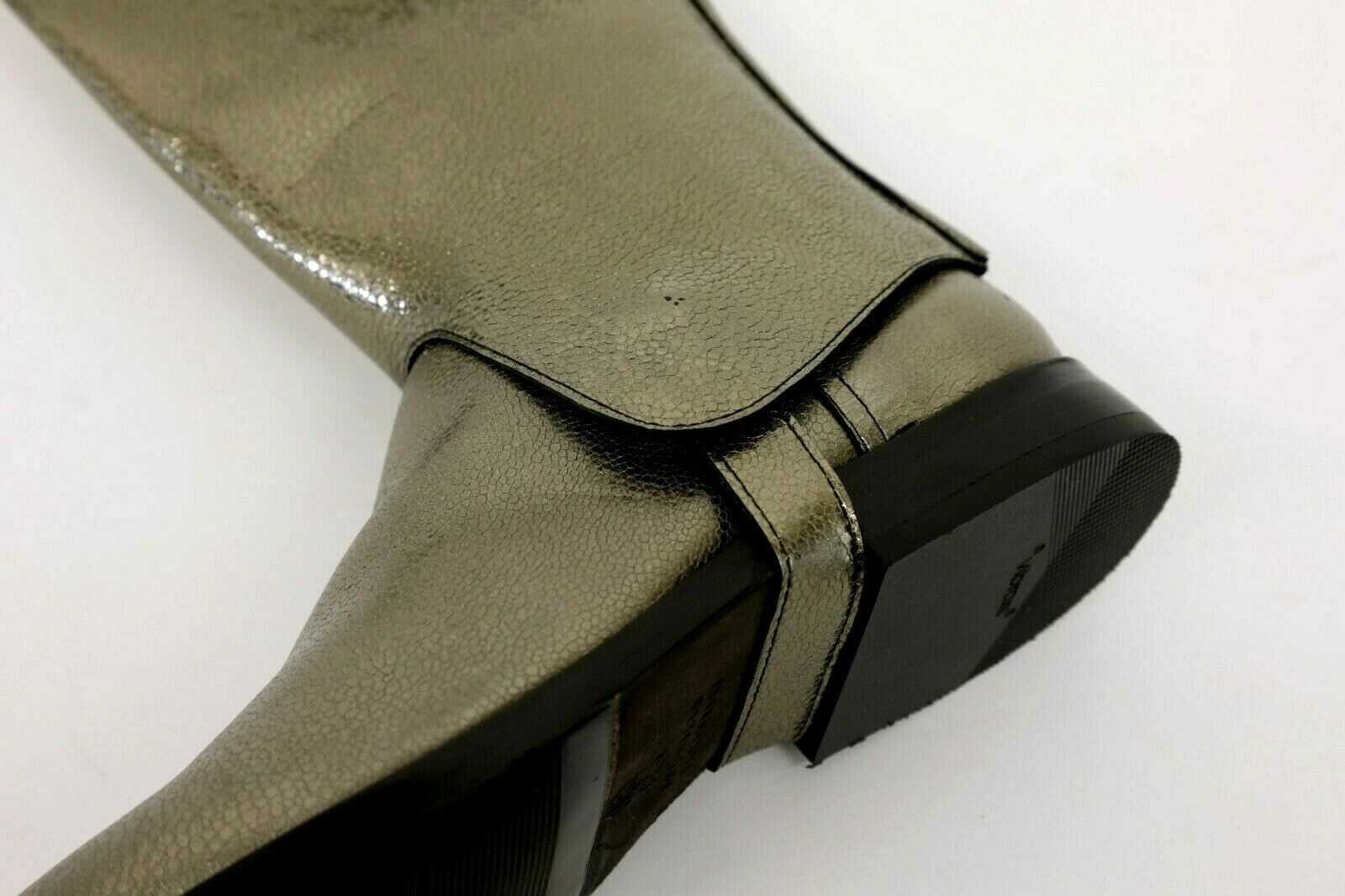 NWOB 2995 Brunello Cucinelli Metallic Leather Leather Leather Stirrup + Chelsea Stiefel 37 7US A191 6ff536