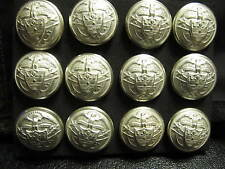 "RALPH LAUREN BLAZER BUTTON LOT 7/8"" Coat metal  Ant white / frost silver. 12 p"