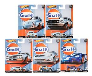 Hot-Wheels-2019-Car-Culture-Gulf-Racing-Set-of-5-Cars-1-64-FPY86-956G-In-Stock