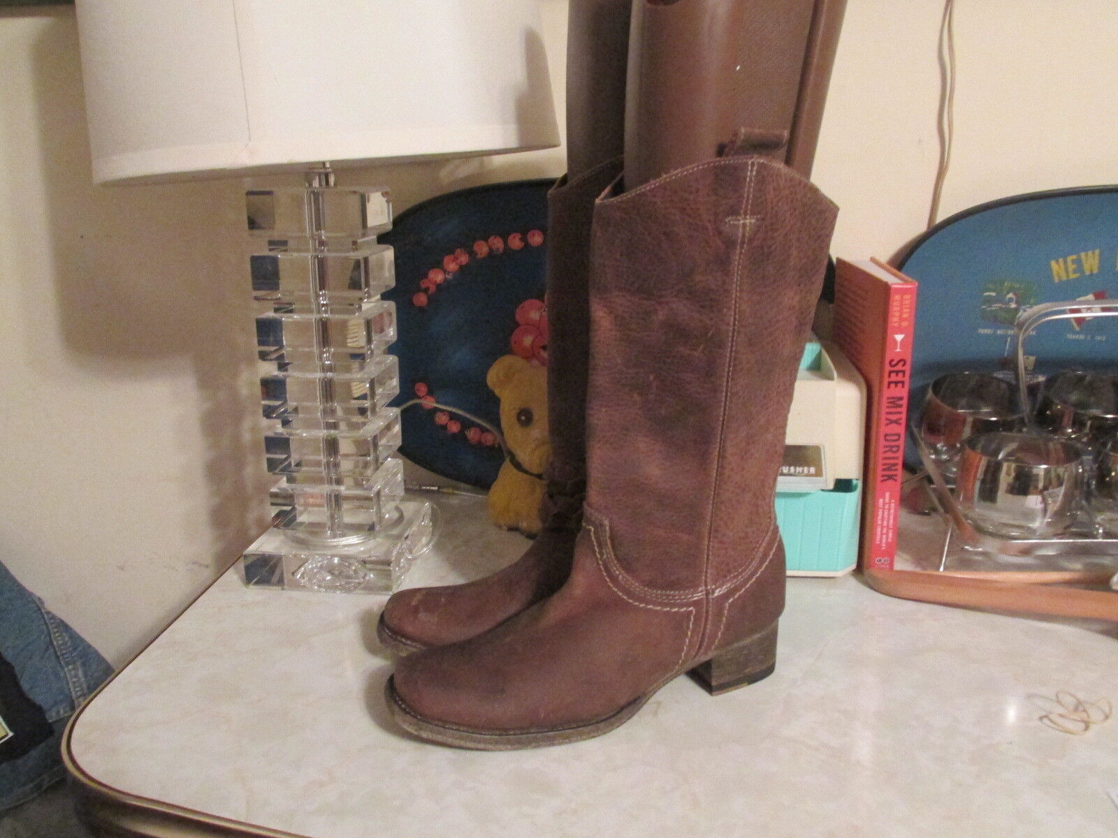 Bed Stu Sapphire Boots  Womens Brown Leather Pull On Sz 6 US NWD