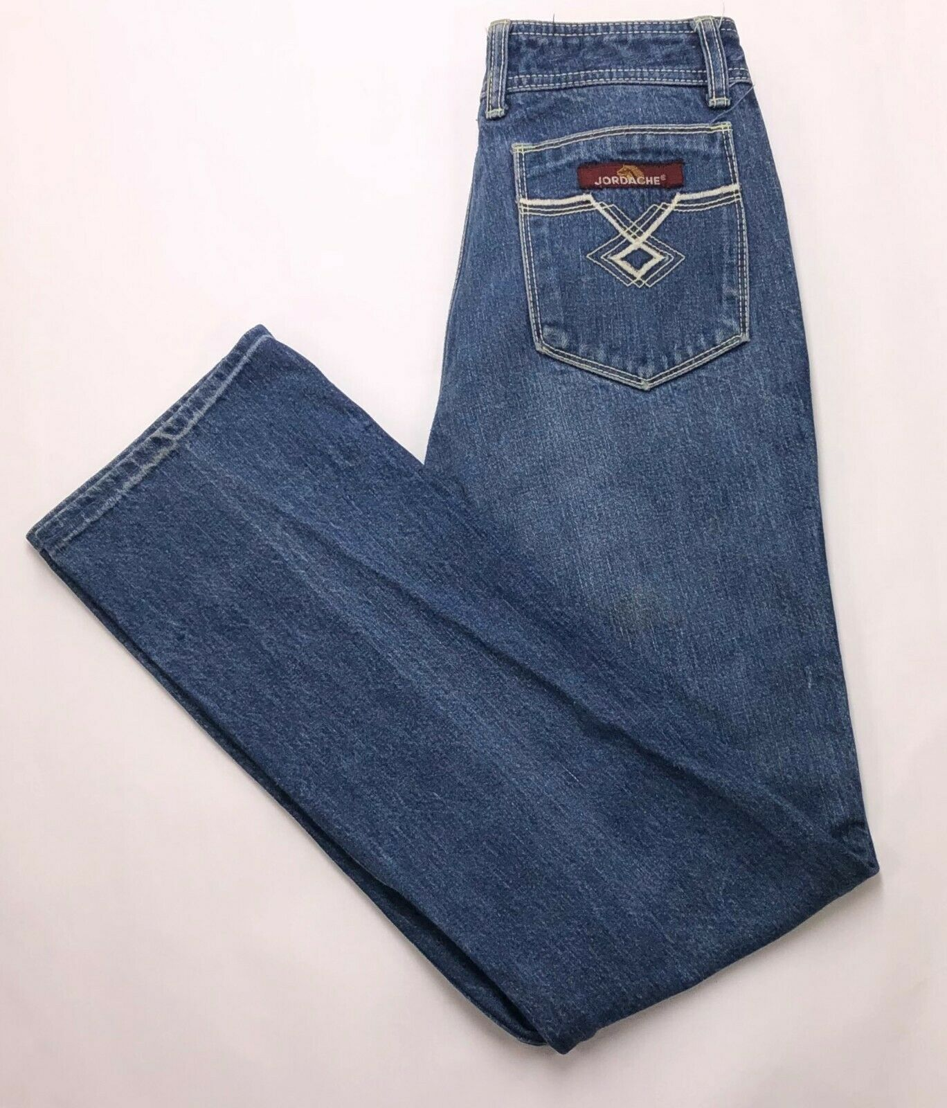 K206 VTG Jordache High Rise Straight Boyfriend Mom Jeans sz 30 (Mea 26x29.5 hem)