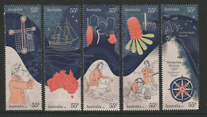 Australia-2020-Navigating-History-Endesvour-Voyage-250-Years-Set-of-5-Stamps