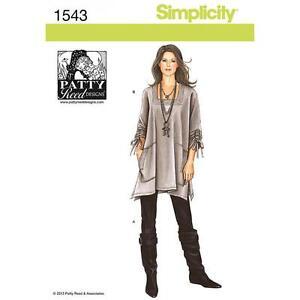 SIMPLICITY-CUCITO-MODELLO-MISSES-TUNICA-A-MAGLIA-PANTALONI-SLIM-XXS-XXL-1543