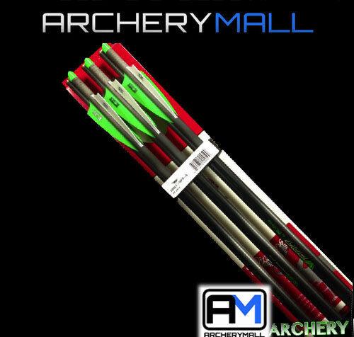 "6 pack Bear X Crossbow Bolts 20/"" Carbon Half Moon Nock /& Tips Arrows"