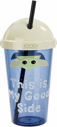 STAR WARS THE MANDALORIAN THE CHILD CUP WITH STRAW THIS IS MY GOOD SIDE FUNKO