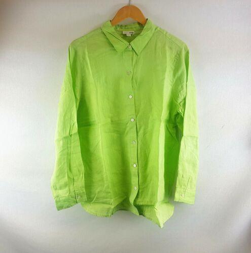 All Sizes New J Jill Celadon Long Sleeve Linen Buttoned Shirt